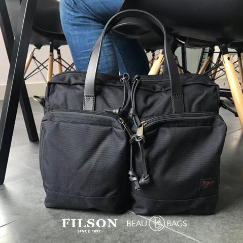 Filson Ballistic Nylon Dryden Briefcase Dark Navy