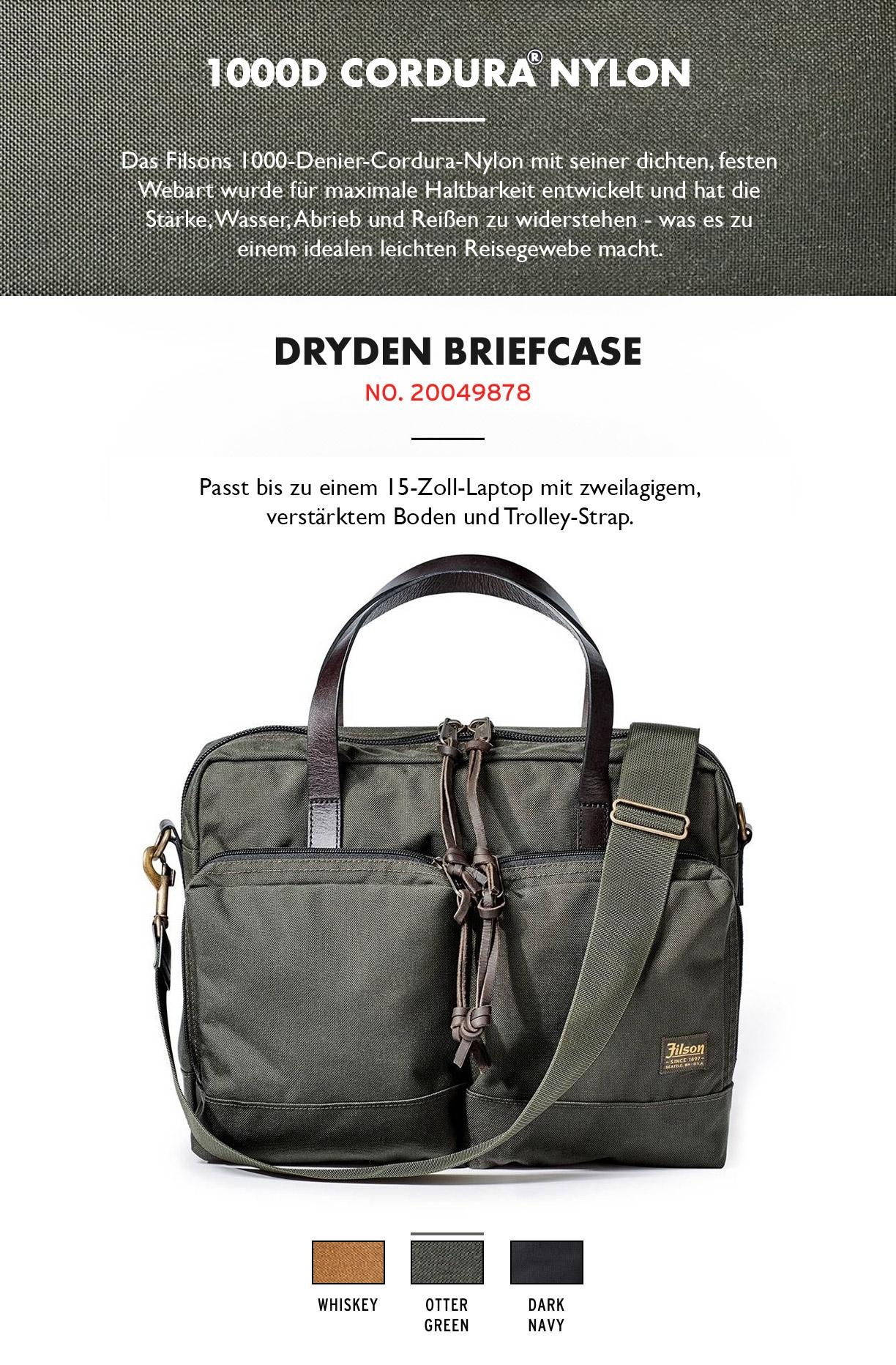 Filson Dryden Briefcase Otter Green Produktinformationen