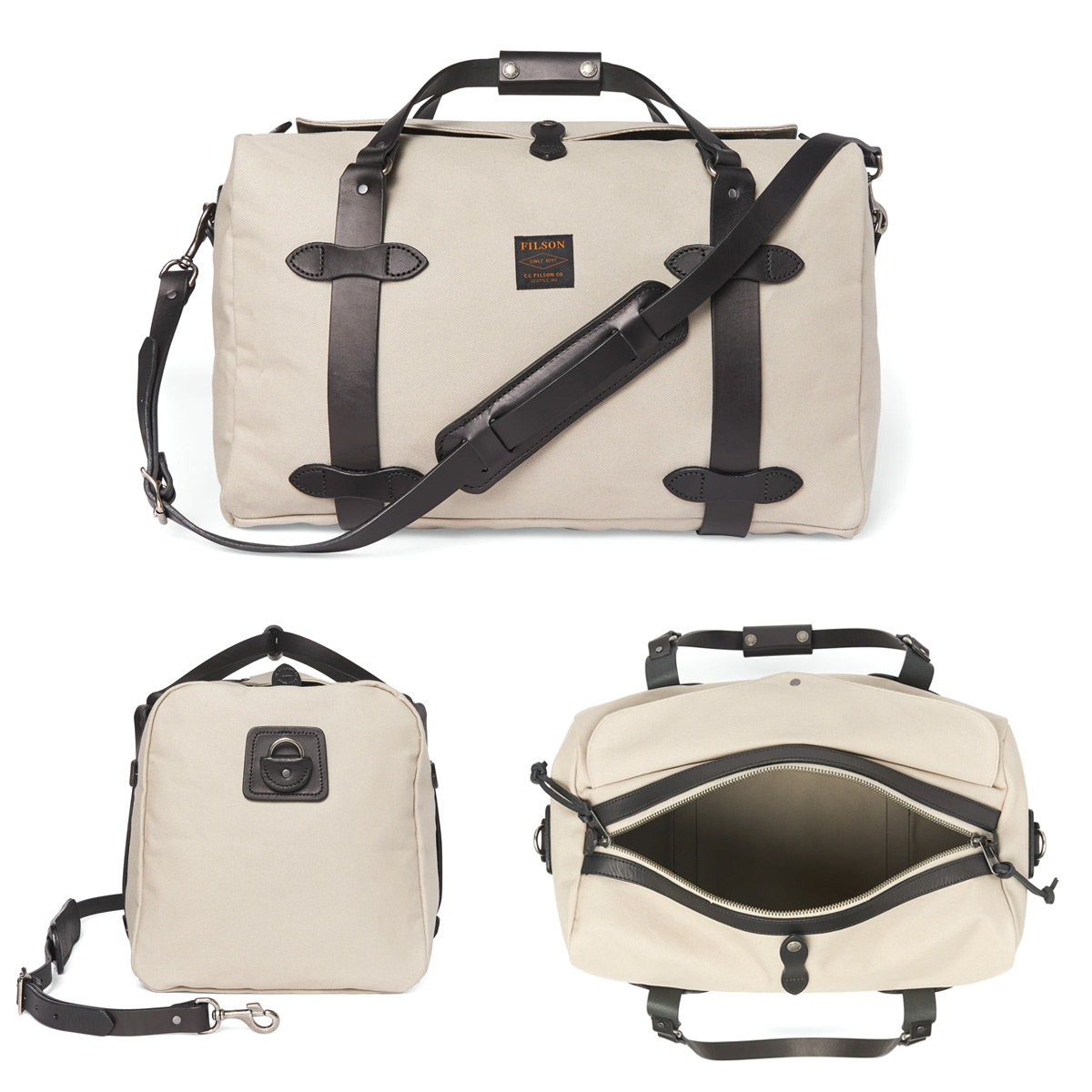 Filson Duffle Bag Medium Twine, perfekt für einen Wochenendausflug oder eine kleine Geschäftsreise