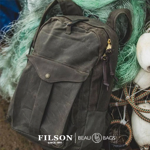 Filson Journeyman Backpack 11070307 Otter Green, waterproof backpack that will last through decades of use, in any climate