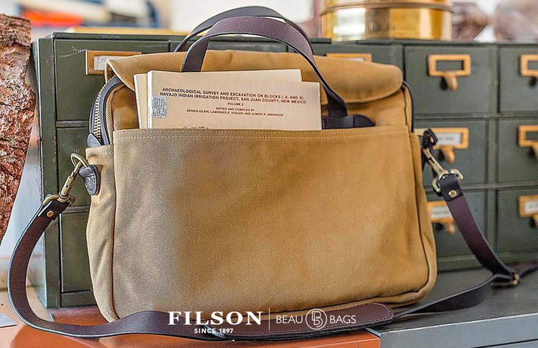 Filson Original Briefcase Tan, extraordinary bag for an ordinary day