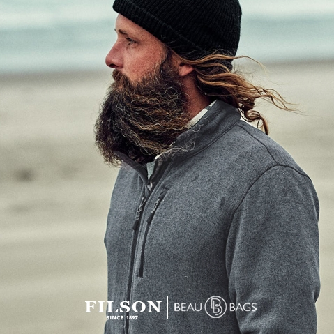 Filson Ridgeway Fleece Jacket Charcoal, comfortable, lightweight quick-drying Polartec® fleece for use in extreme conditions