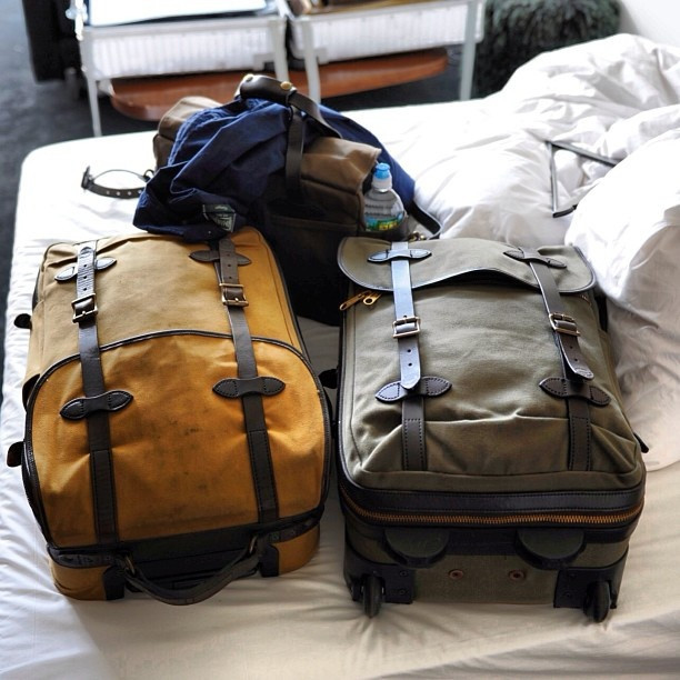 Filson Rolling Carry-On Bag for travel in style
