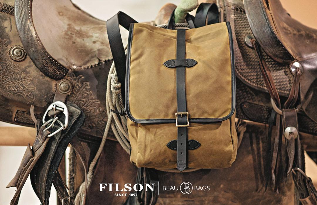 Filson Tin Cloth Backpack Dark Tan, der ultimative Rucksack für jeden Ihrer Ausflüge