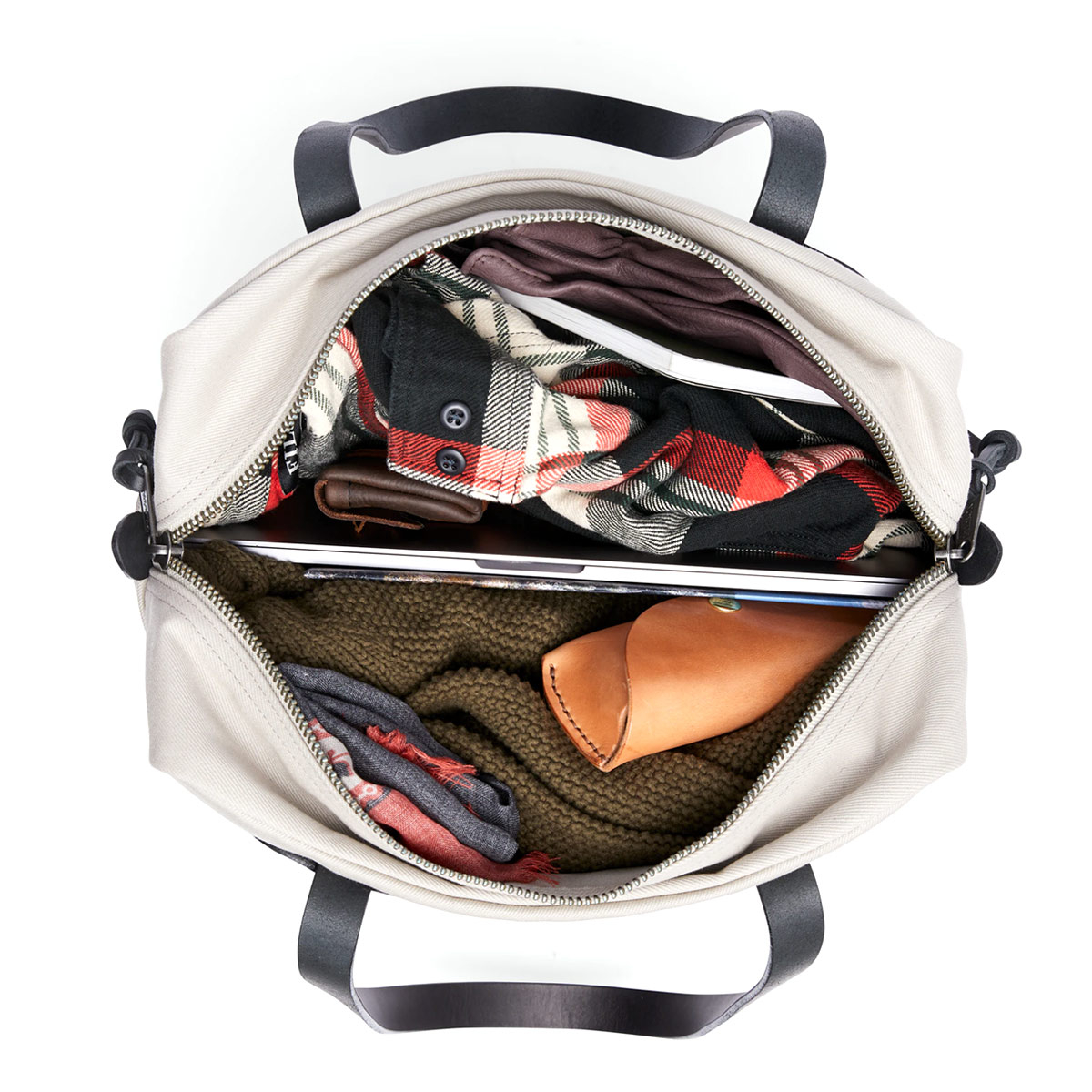 Filson Rugged Twill Tote Bag With Zipper 11070261-Twine, legendäre Tote Bag für unterwegs