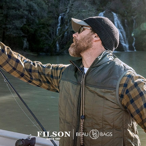 Filson Ultra Light Vest Field Olive, mit Cordura® Ripstop nylon und 60gm PrimaLoft® Gold insulation