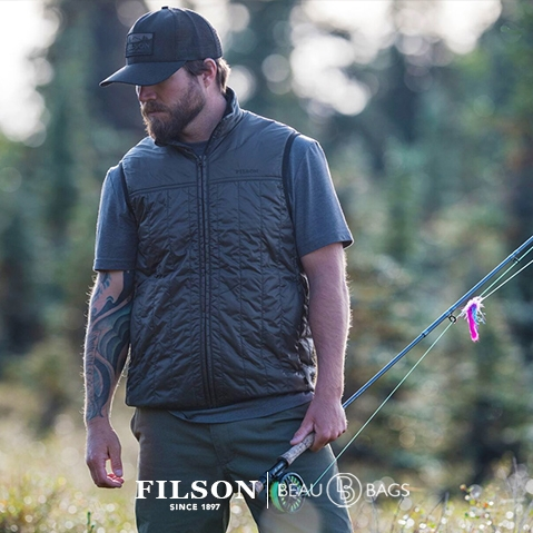 Filson Ultra Light Vest Raven, Filson Ultra Light Vest Raven, mit Cordura® Ripstop nylon und 60gm PrimaLoft® Gold insulation