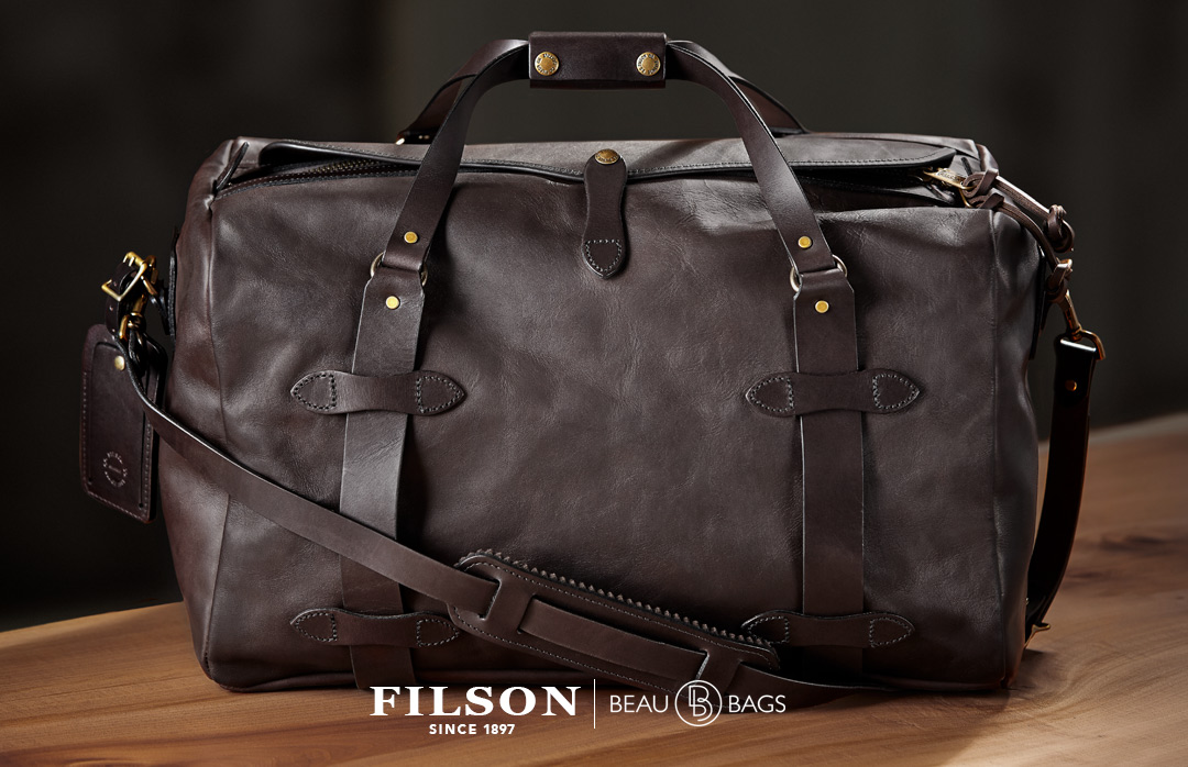 Filson Weatherproof Duffle-Medium Leather, eine lebenslang garantierte Lederdüffel
