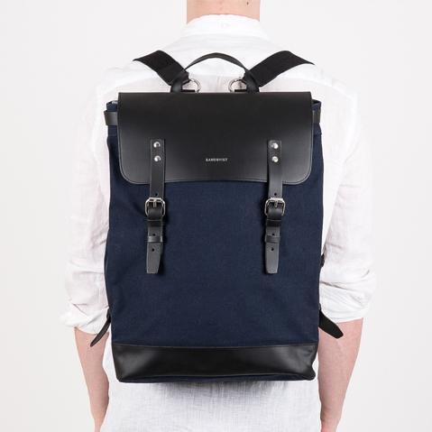Sandqvist Hege Backpack Blue, ein perfekter Alltagsrucksack für Arbeit und Freizeit