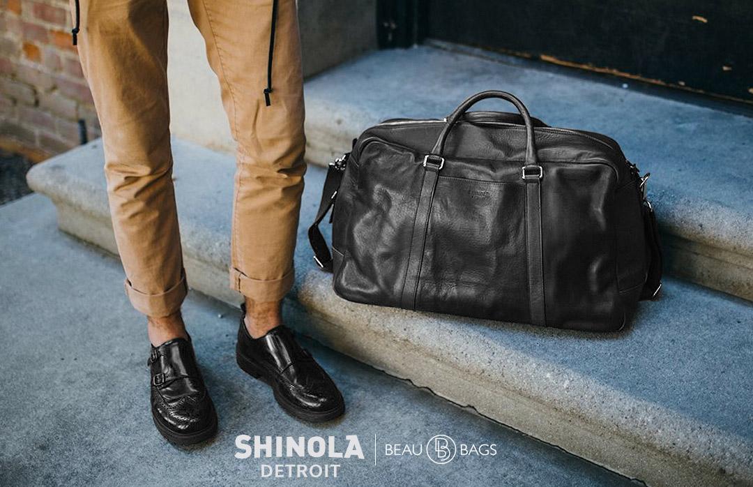 Shinola Signature Duffle Black, great duffle for on the go