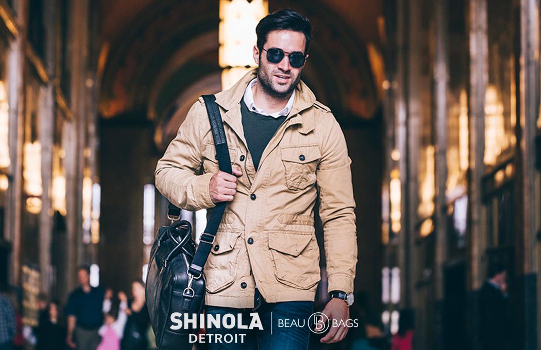Shinola Slim Briefcase Black, great briefcase for on the go