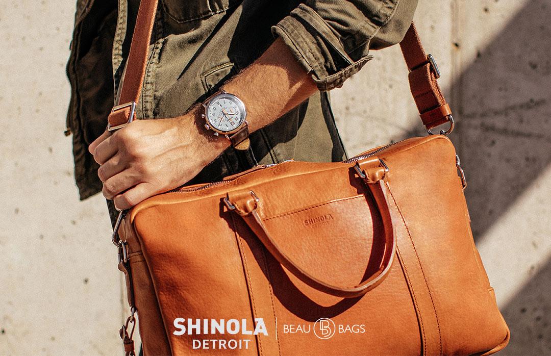 Shinola Slim Briefcase Bourbon, great briefcase for on the go