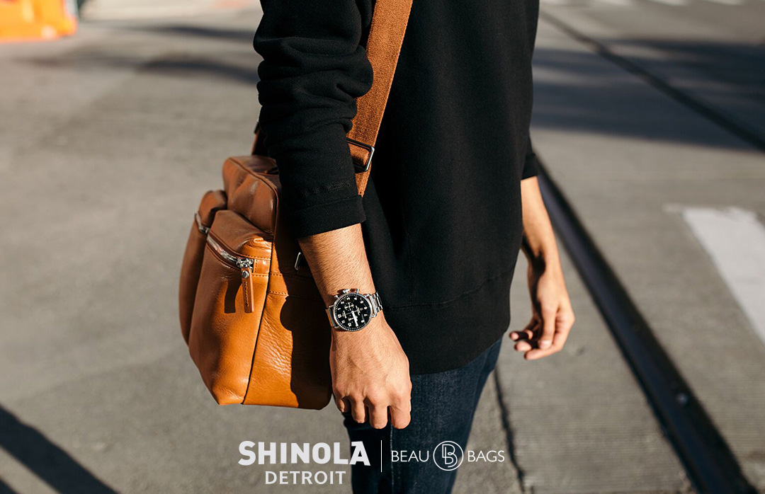 Shinola Zip Top Messenger Bourbon, great messenger crafted to carry everything