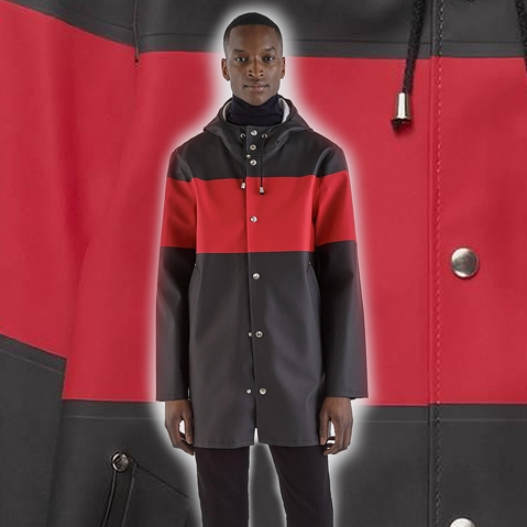 Stutterheim Stockholm Stripe Black Red neue Kollektion