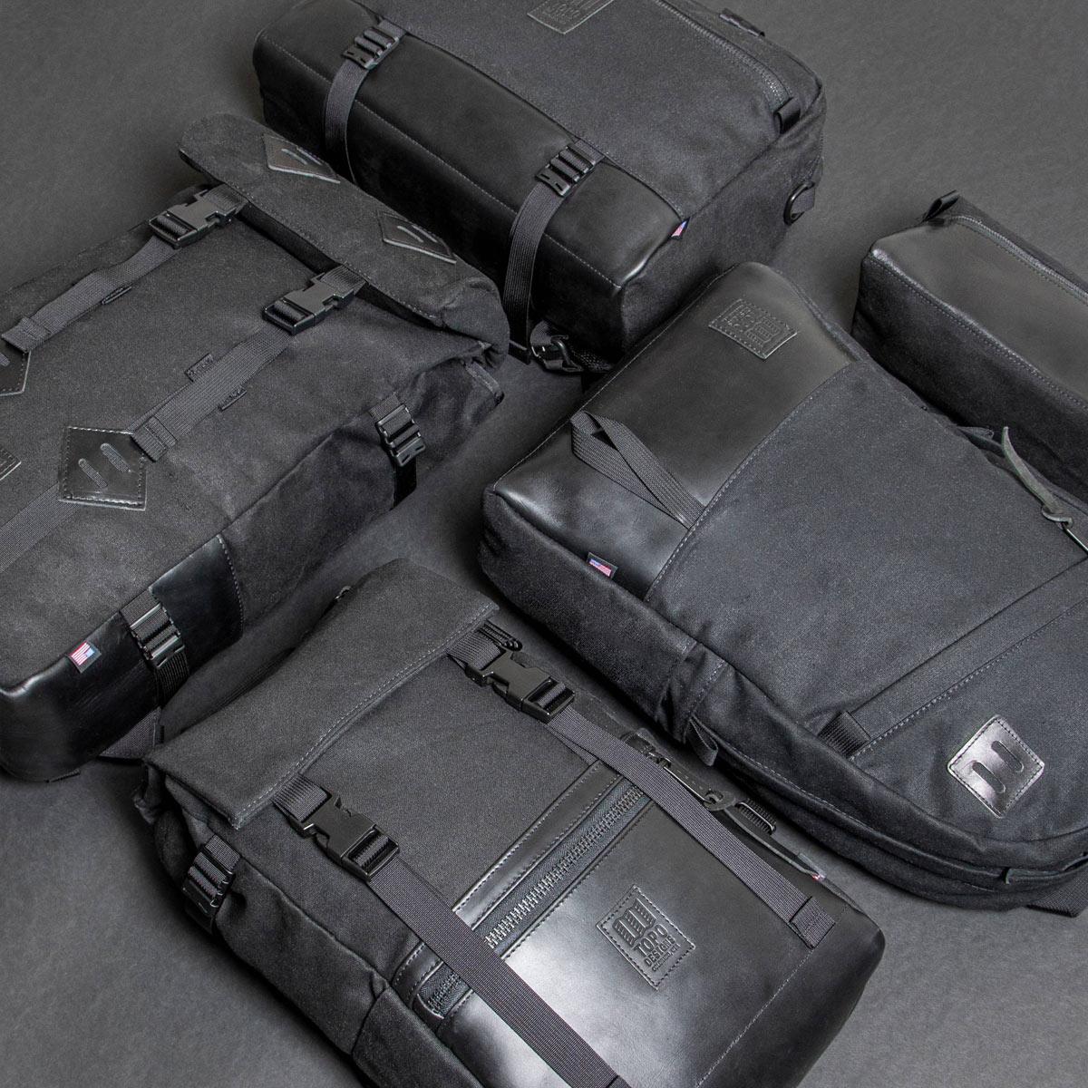 Topo Designs Commuter Briefcase Heritige Black Canvas/Black Leather, perfekte Tasche mit durchdachter Funktionalität