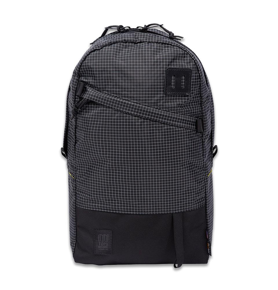 Topo Designs Daypack Black/White Ripstop, starker Rucksack in 1050D Cordura mit 15 Zoll Laptopfach und 21 Liter Stauraum