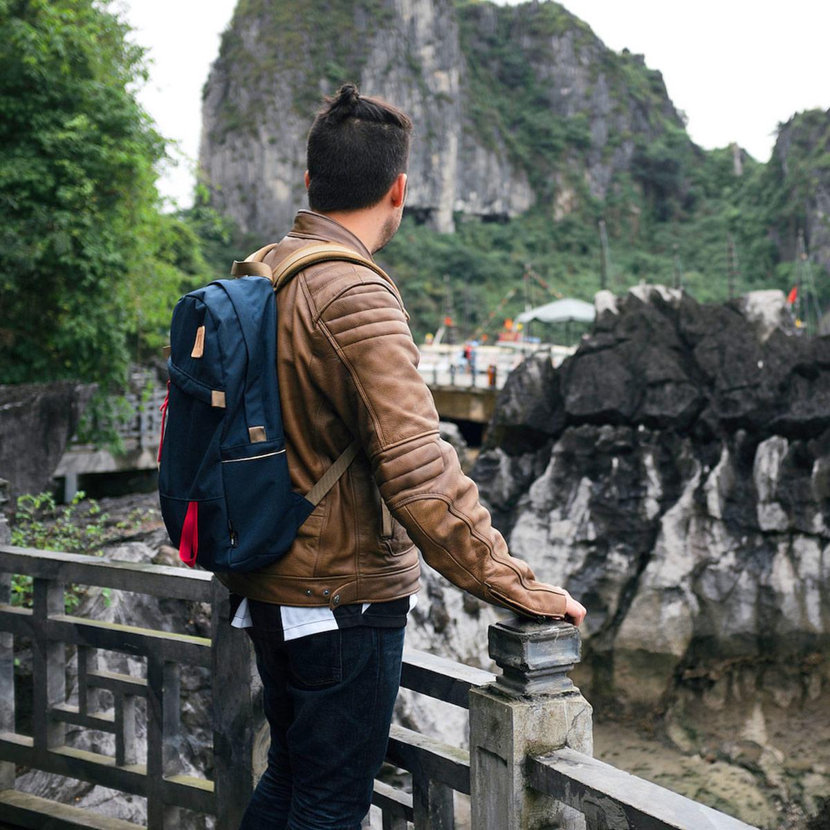 Topo Designs Daypack backpack Navy, Idealer Reiserucksack für Reise, Stadt, Arbeit oder Schule.