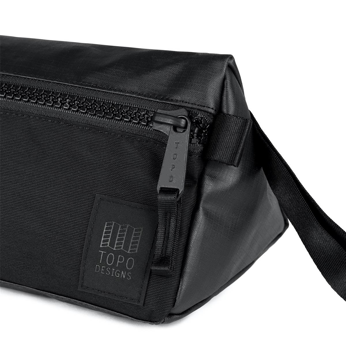 Topo Designs Dopp Kit Premium Black, water-resistant, travel light, accessory bag