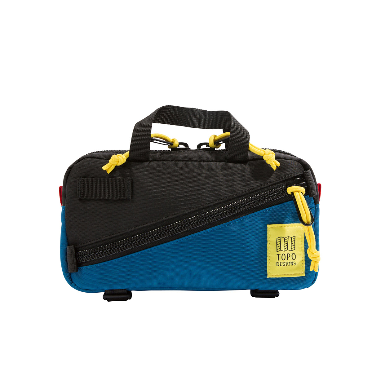 Topo Designs Mini Quick Pack Black/Blue, a well-built, secure bag for travel