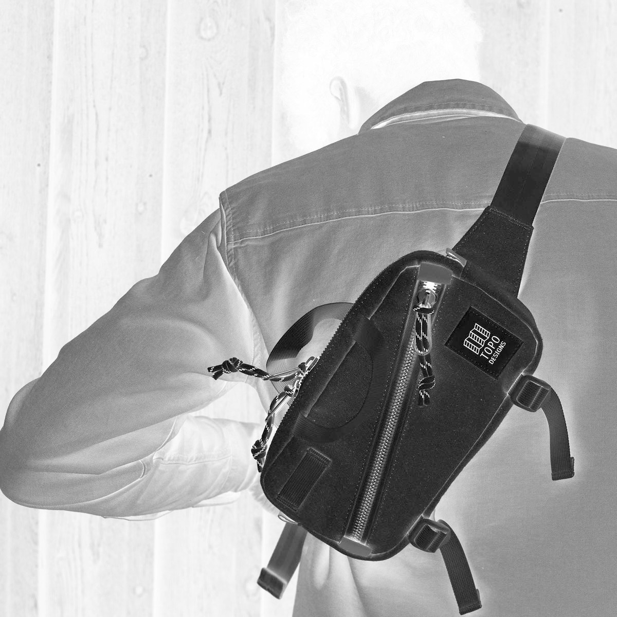 Topo Designs Mini Quick Pack Canvas Black, a well-built, secure bag for travel