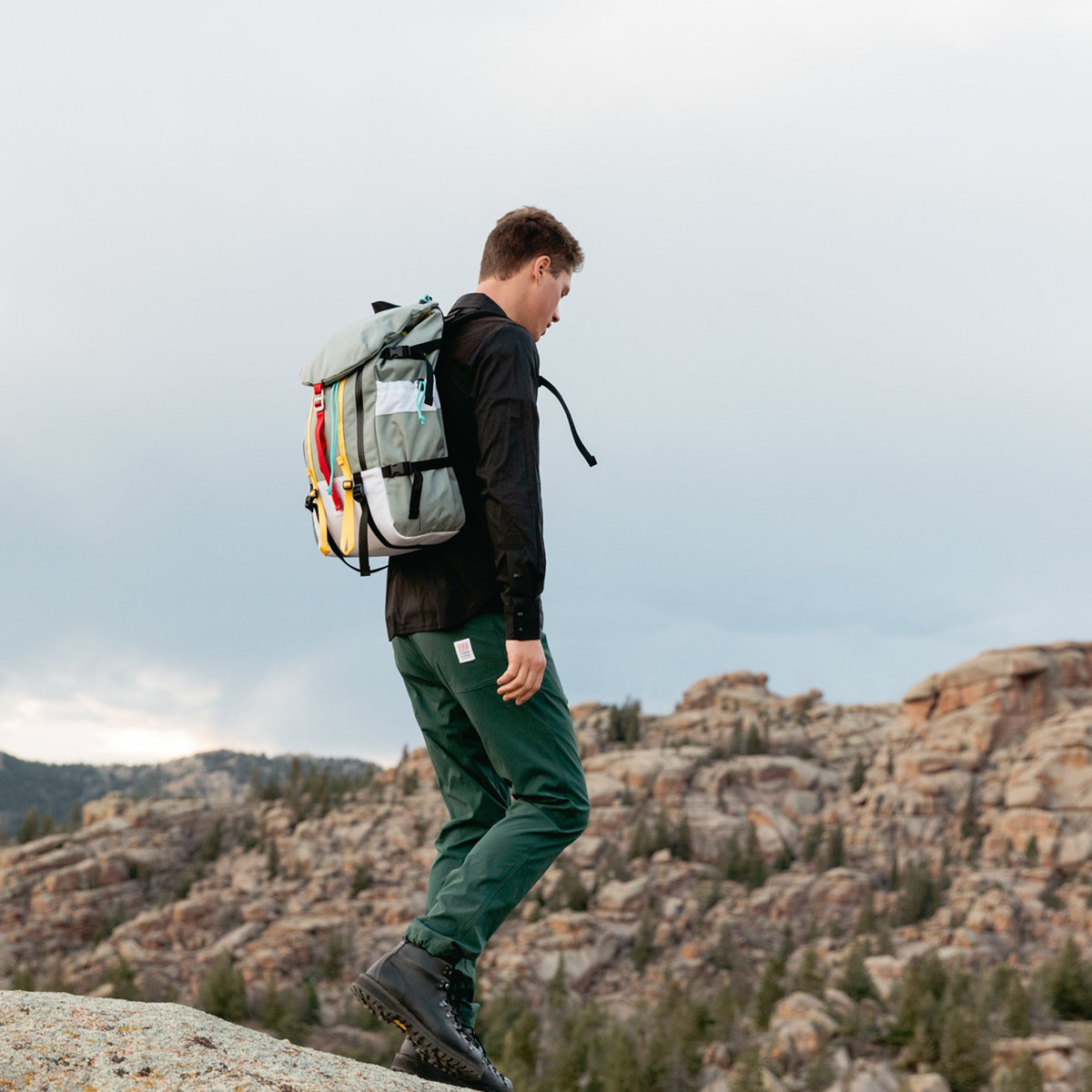 Topo Designs Mountain Pack Silver lifestyle