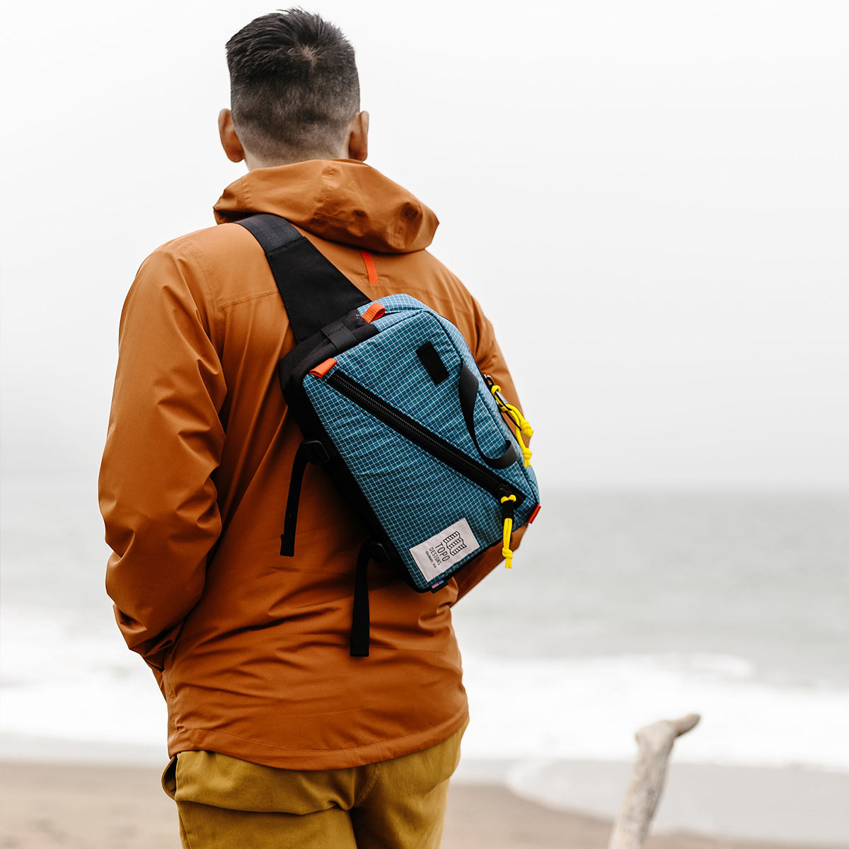 Topo Designs Quick Pack Blue Ripstop, a well-built, secure bag for travel