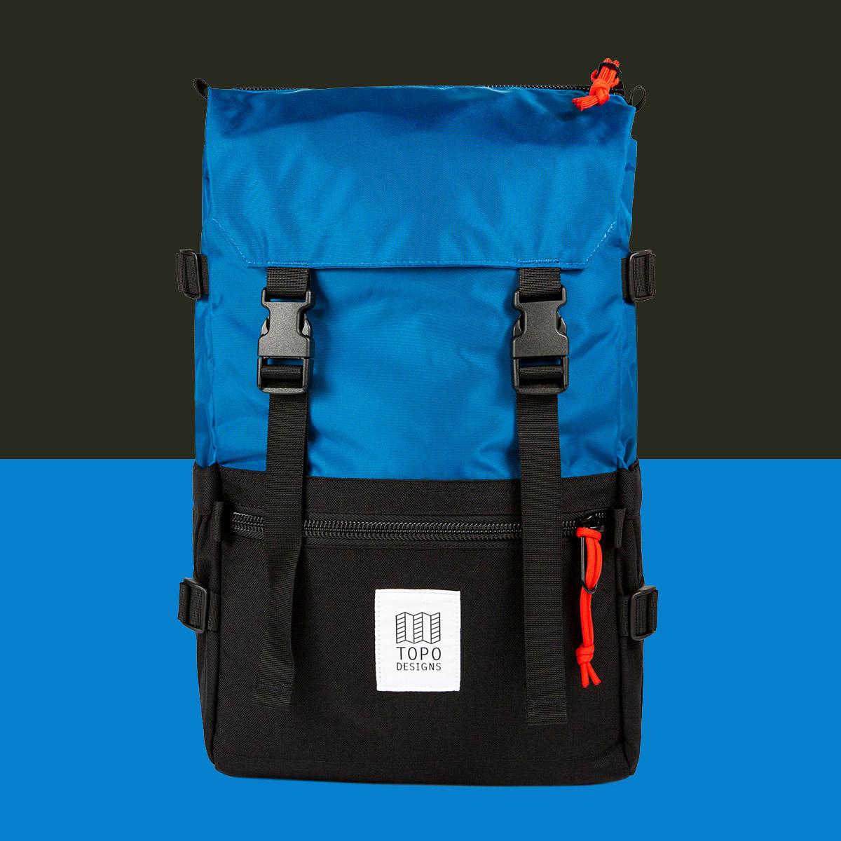 Topo Designs Rover Pack Classic Blue/Black, zeitloses Styling und robuster Rucksack mit tollen Funktionalitäten