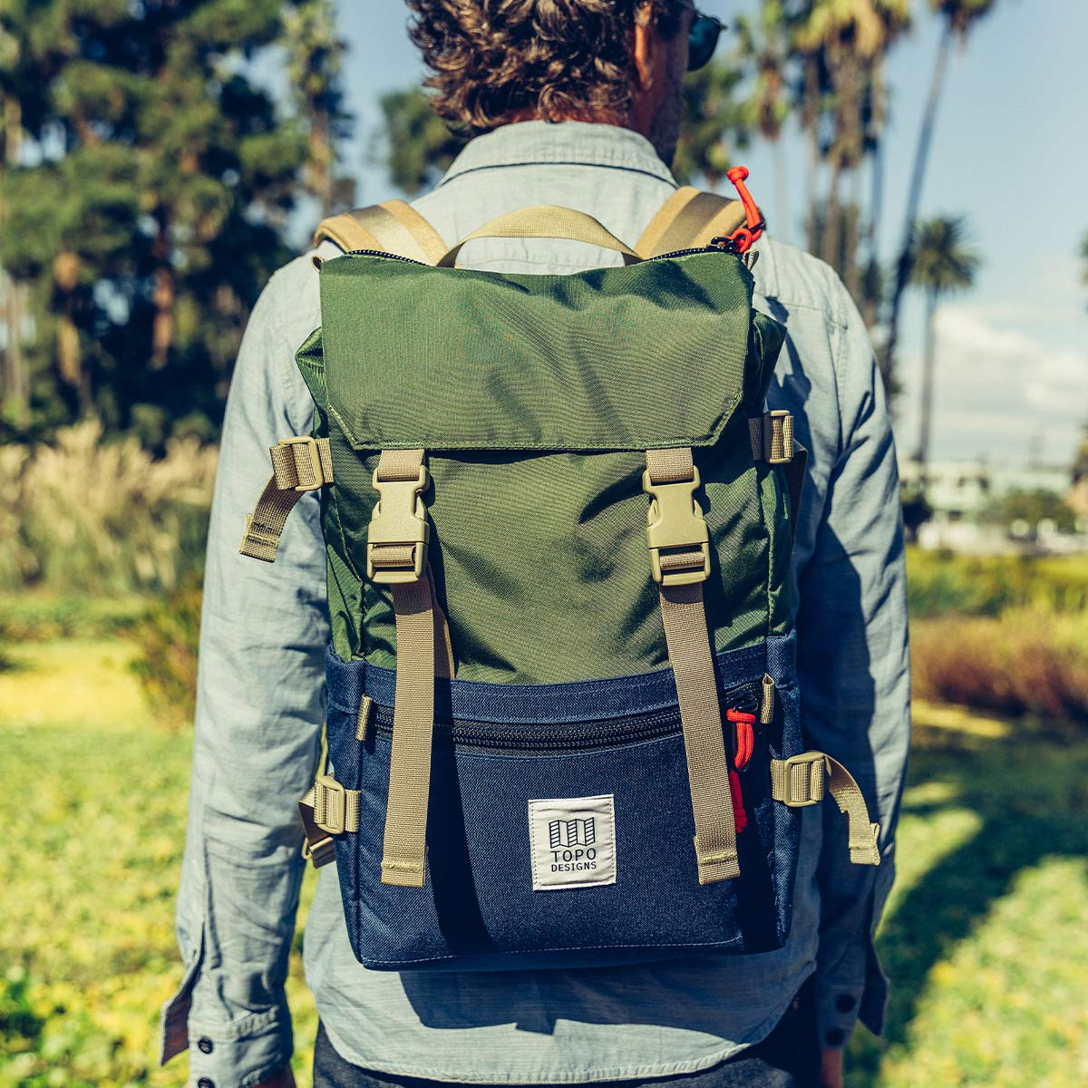Topo Designs Rover Pack Classic Olive/Navyd, der ideale Rucksack für den täglichen Gebrauch