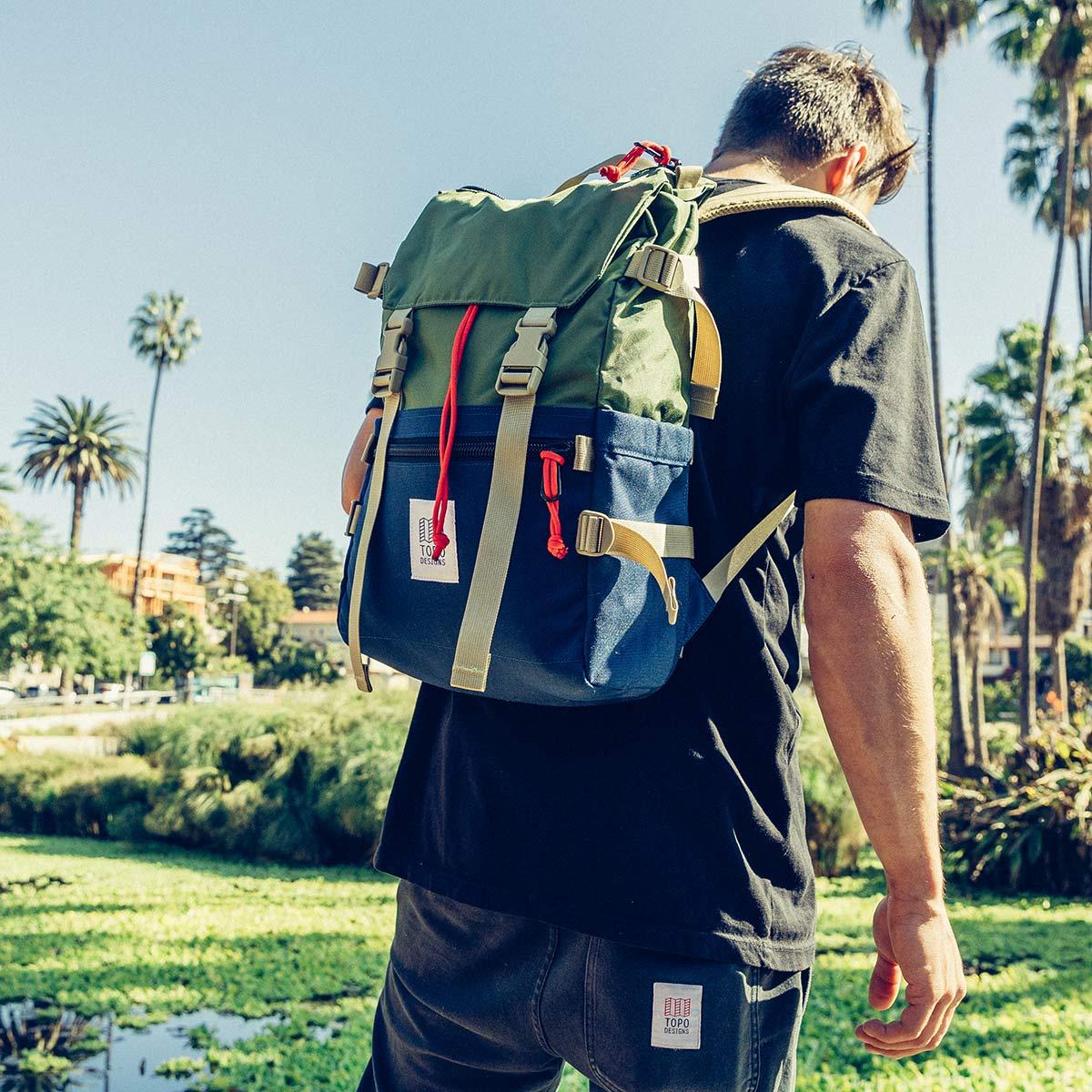 Topo Designs Rover Pack Classic Olive/Navy, Rucksack ideal für Freizeit und Business