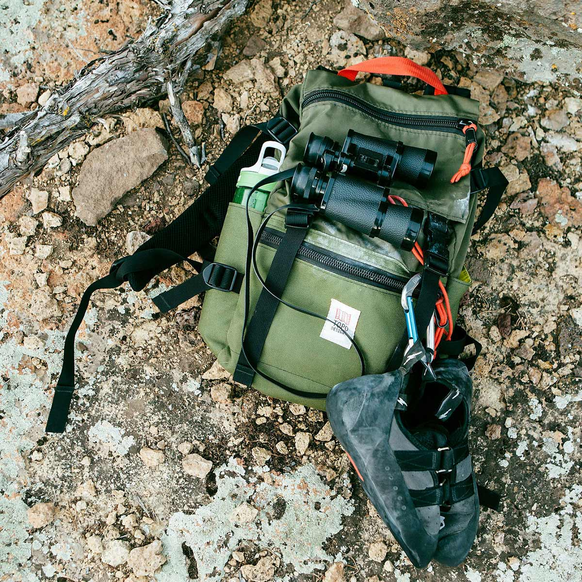 Topo Designs Rover Pack Classic Olive, der ideale Rucksack für den täglichen Gebrauch