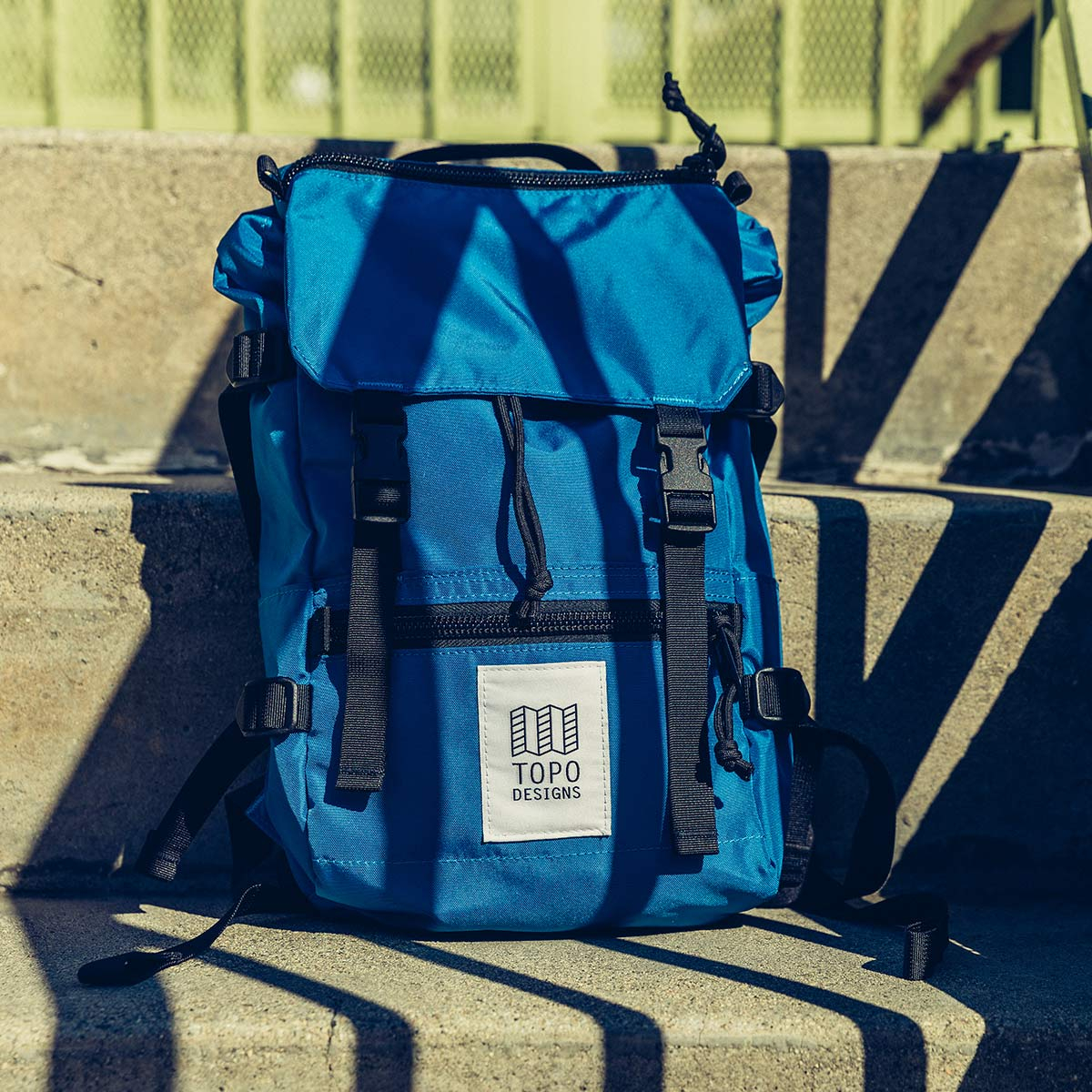 Topo Designs Rover Pack - Mini Blue-Blue, statement-making bag that's the perfect size for errands around town or on the trail