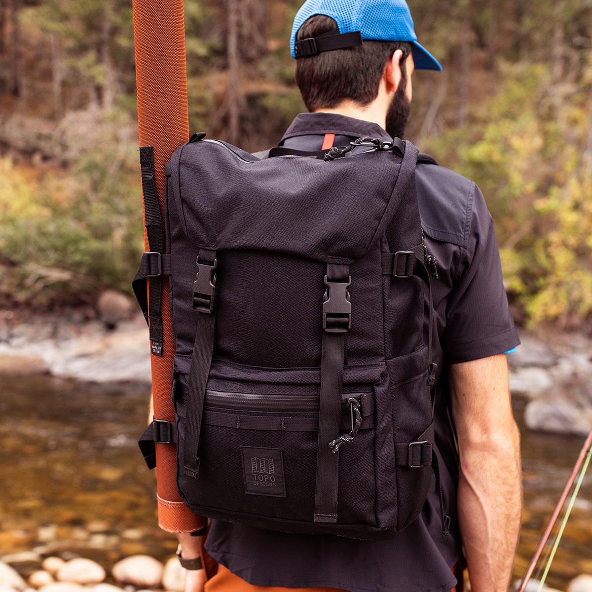Topo Designs Rover Pack Tech Navy, der ideale Rucksack für den täglichen Gebrauch