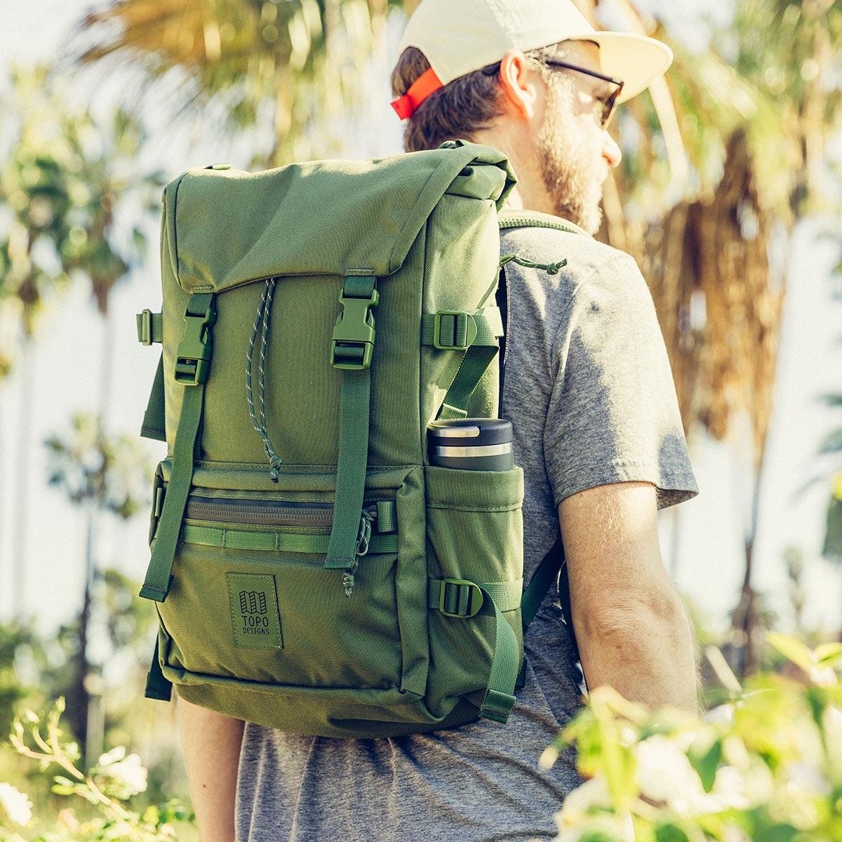 Topo Designs Rover Pack Tech Olive, ideal für Freizeit und Business