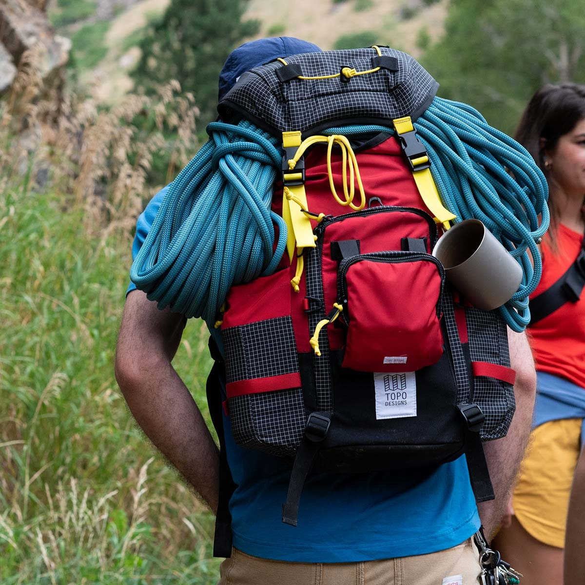 Topo Designs Topo Designs Subalpine Pack, combines the functionality of classic hiking packs with unmistakably Topo Designs styling