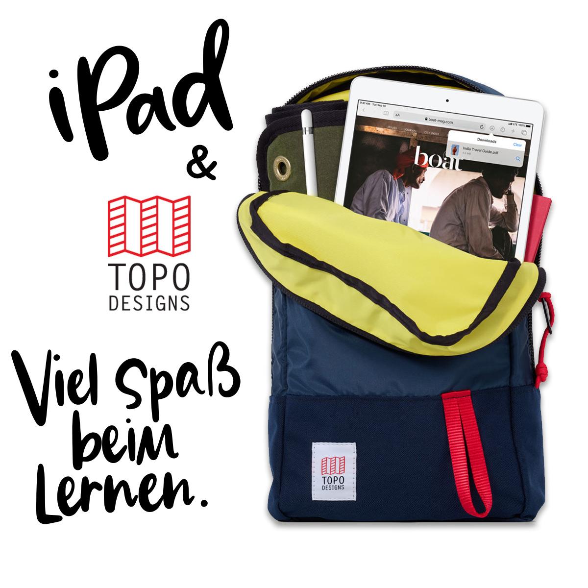 Topo Designs Trip Pack Navy, perfekte Größe für Schule