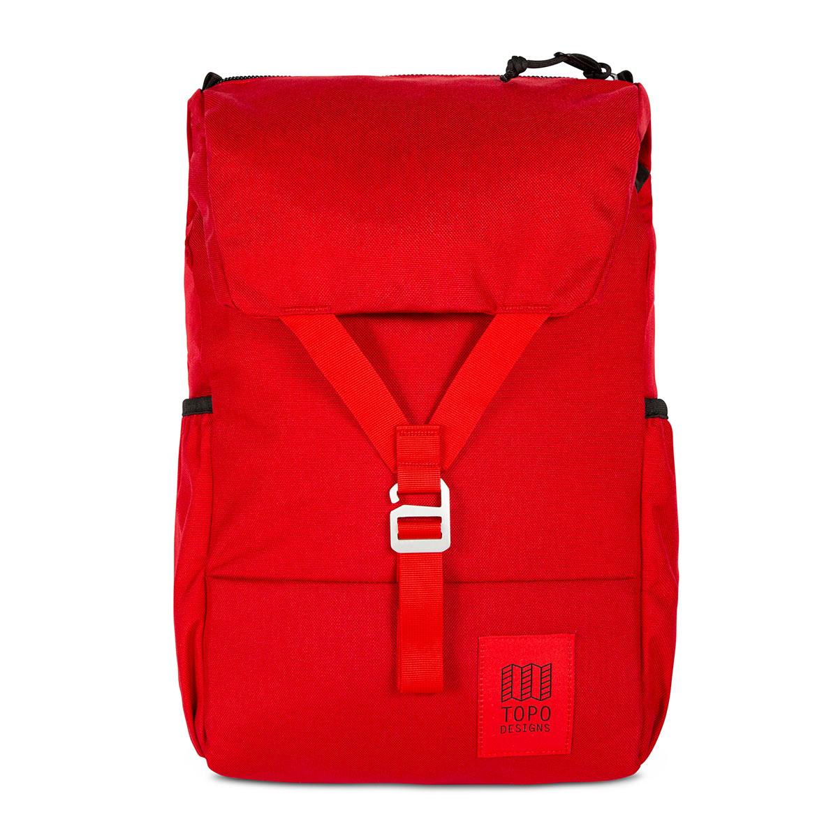 Topo Designs Y-Pack Red klassischen Stil und moderne Funktionalität
