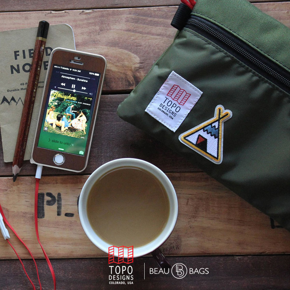 Topo Designs Accessory Bags Olive 3 Sizes, easy traveling, keeps the inside of your pack neat and organized