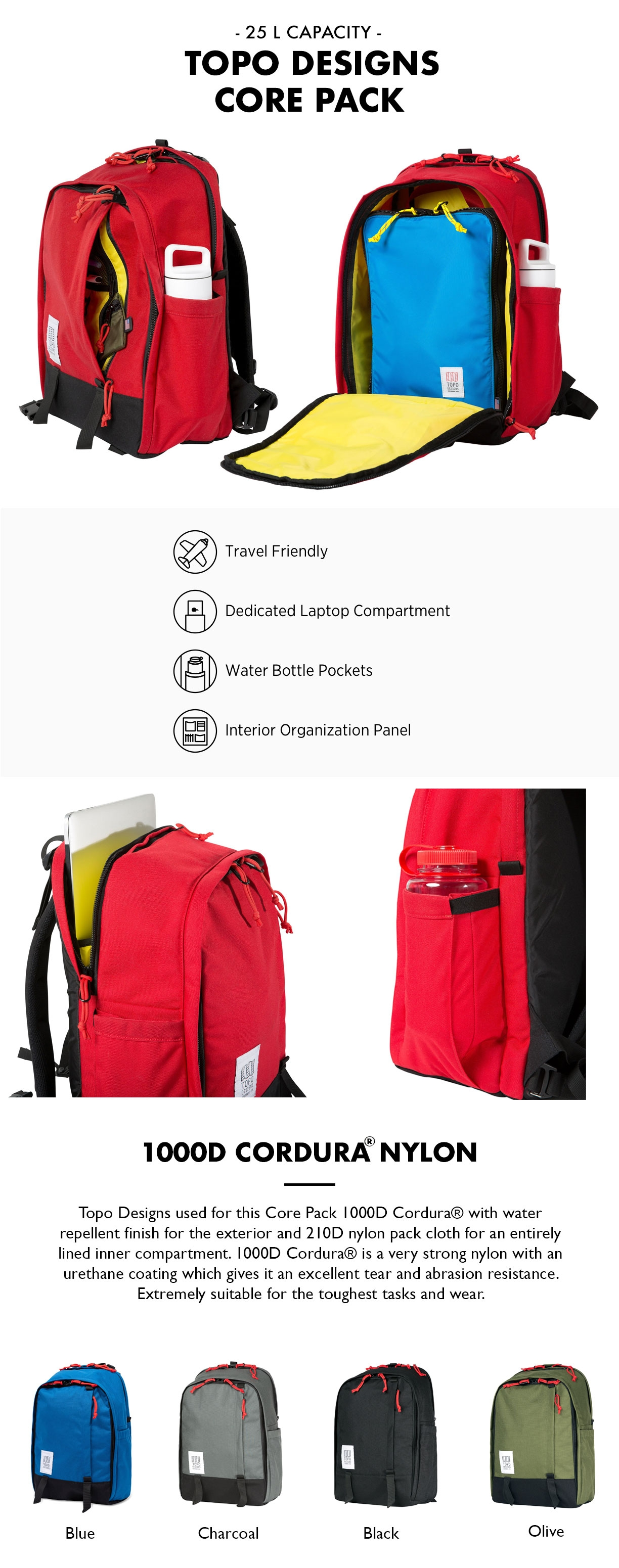 Topo Designs Core Pack product information