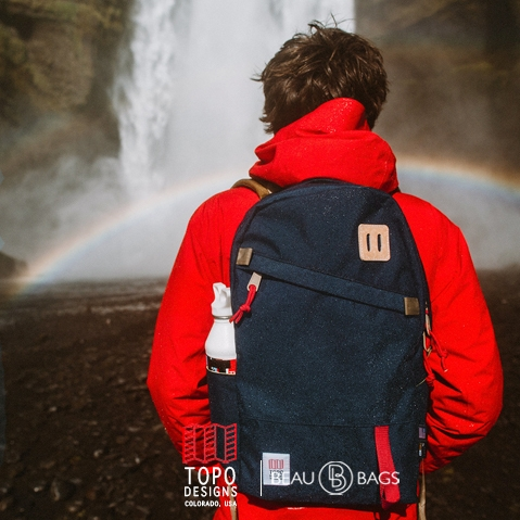 Topo Designs Daypack Navy, starker Rucksack in 1000D Cordura mit 15 Zoll Laptopfach