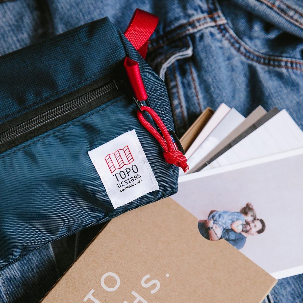Topo Designs Dopp Kit Navy, water-resistant, travel light, accessory bag