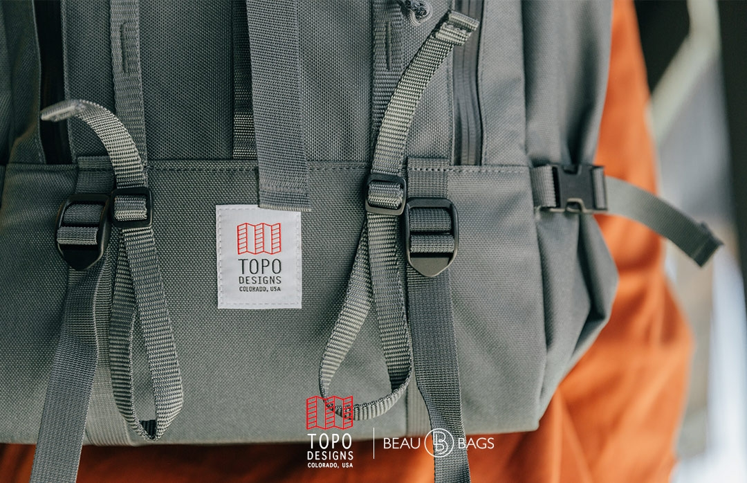Topo Designs Mountain Pack Charcoal, detail