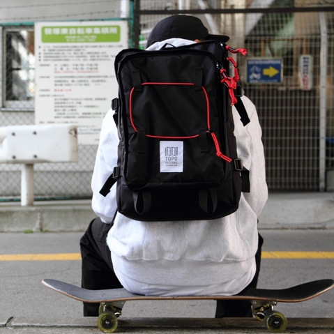 Topo Designs Stack Pack Black lifestyle