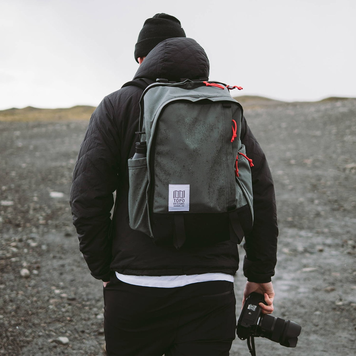 Topo Designs Core Pack Charcoal, perfect backpack for business travel or school commute