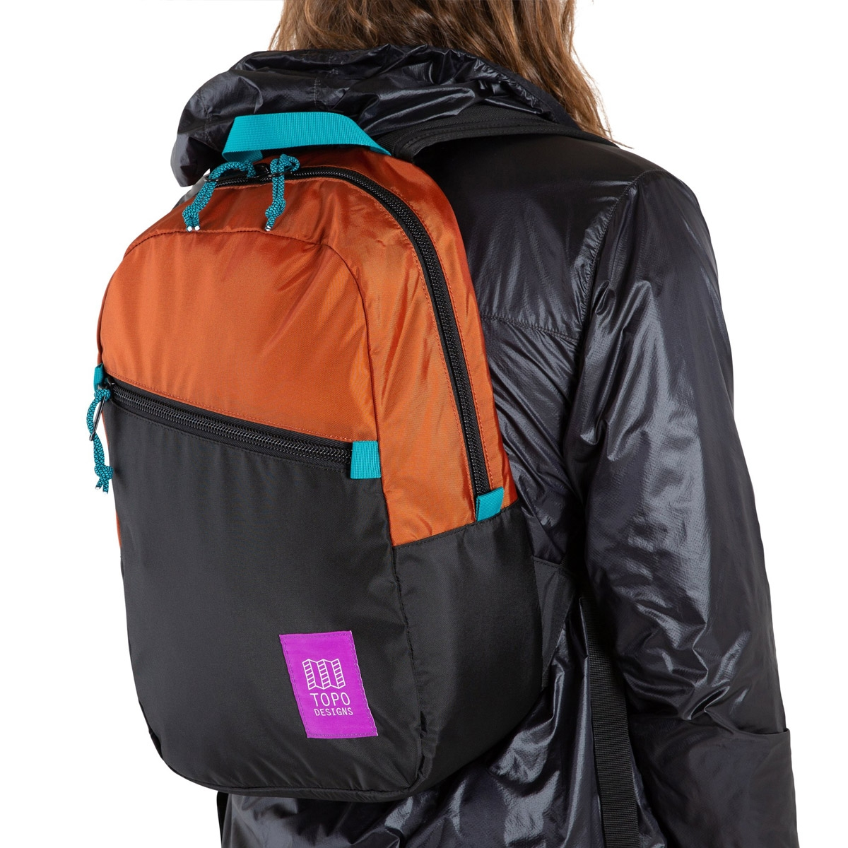 Topo Designs Light Pack Clay/Black, lightweight carry-all bag, also perfect pack for hiking