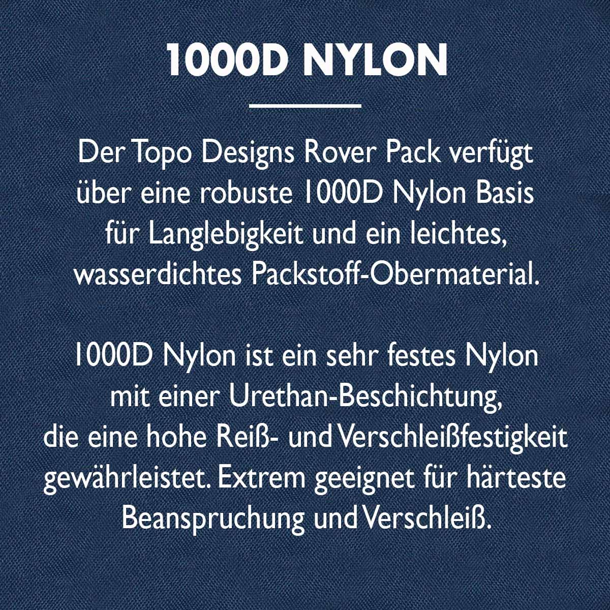 Topo Designs Rover Pack Classic 1000D Nylon