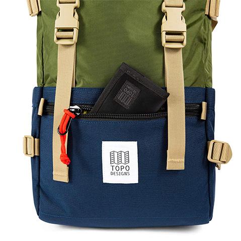 Topo Designs Rover Pack Classic, Reißverschlusstasche auf der Vorderseit