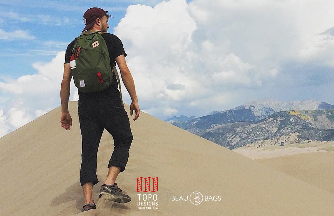 Topo Designs Daypack Olive, starker Rucksack in 1000D Cordura mit 15 Zoll Laptopfach