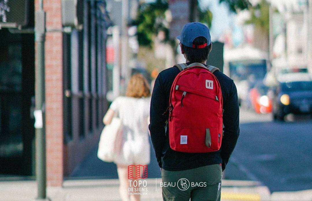 Topo Designs Daypack Khaki, starker Rucksack in 1000D Cordura mit 15 Zoll Laptopfach