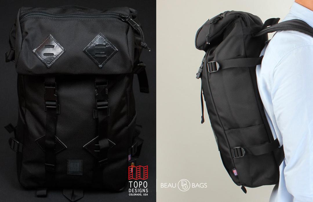 Topo Designs Klettersack Ballistic Black, idealer Reisebegleiter fürdie tägliche Wanderung in die Berge