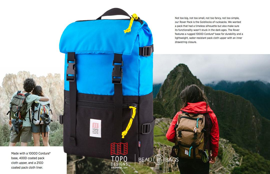 Topo Designs Rover Pack Royal Black, ideale Rucksack für den täglichen Gebrauch